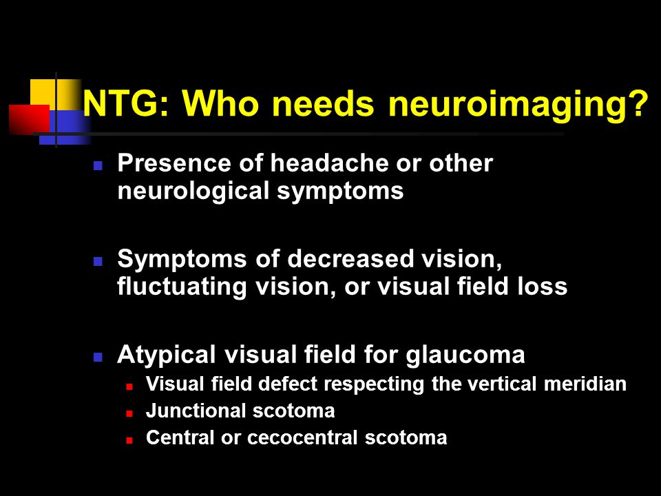 NTG: Who needs neuroimaging.