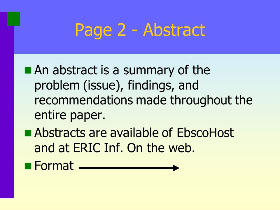 On the Net VI An abstract retrieved from the web, a summary, a review: Retrieved from… becomes: Abstract retrieved from… Summary retrieved from… Review retrieved from….