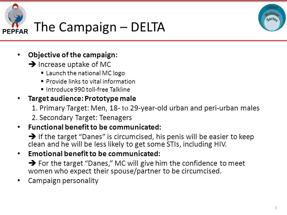 The Campaign – DELTA Objective of the campaign:  Increase uptake of MC  Launch the national MC logo  Provide links to vital information  Introduce