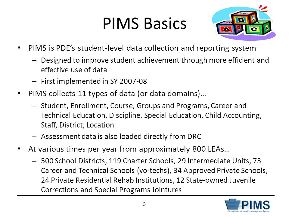 PIMS: One System, Many Collections 4 PIMS