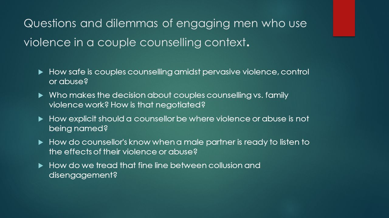 Literature Review Working with men Gender based CBT couples Multiple causes