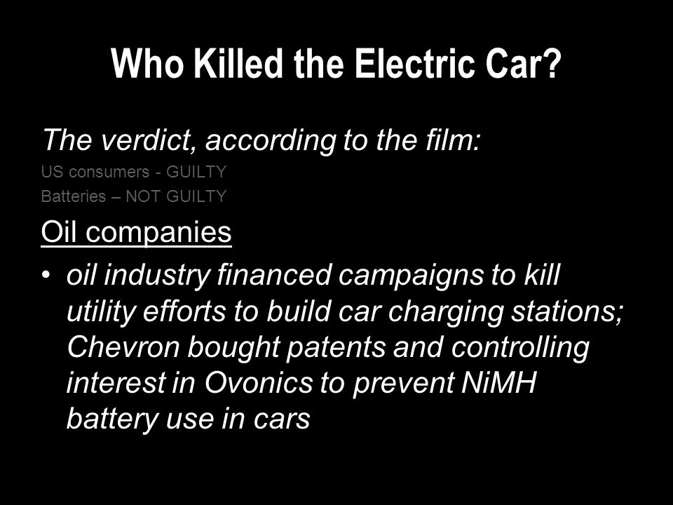 Who Killed the Electric Car.