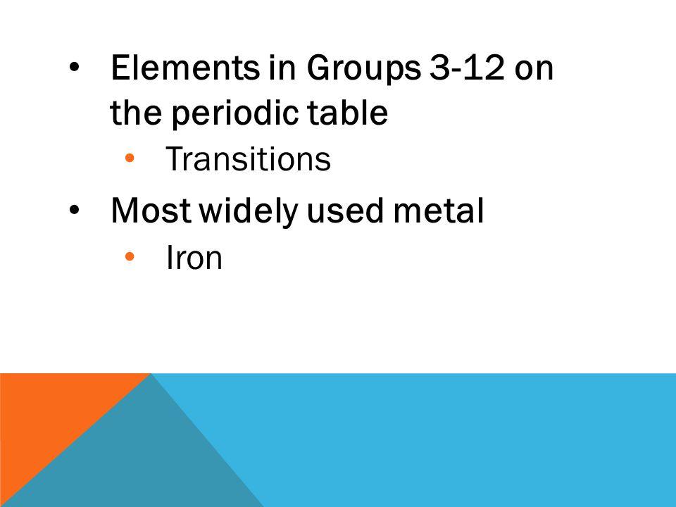 Only liquid metal at room temperature Mercury Most abundant element in Earth's crust Aluminum