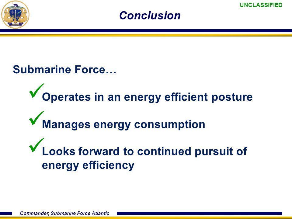 UNCLASSIFIED Commander, Submarine Force Atlantic UNCLASSIFIED