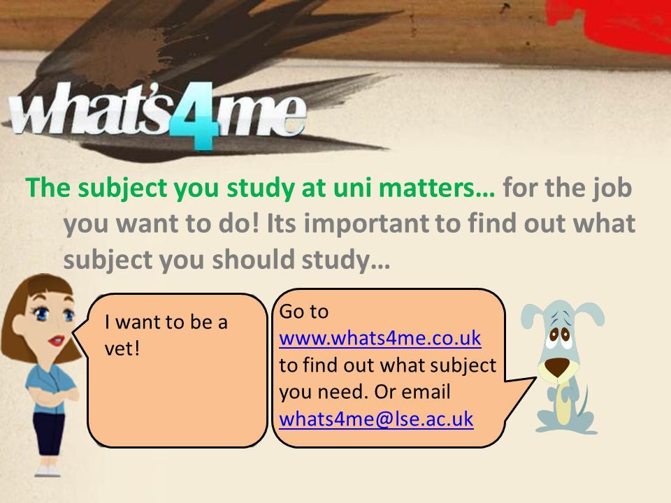 The subject you study at uni matters… for the job you want to do.