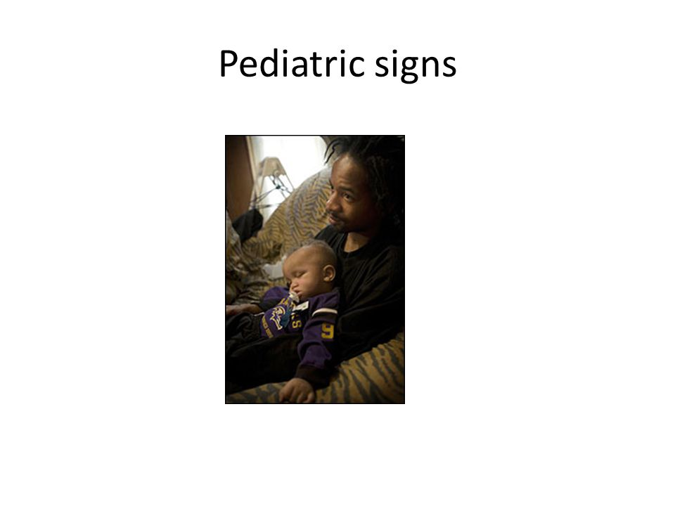 Pediatric signs