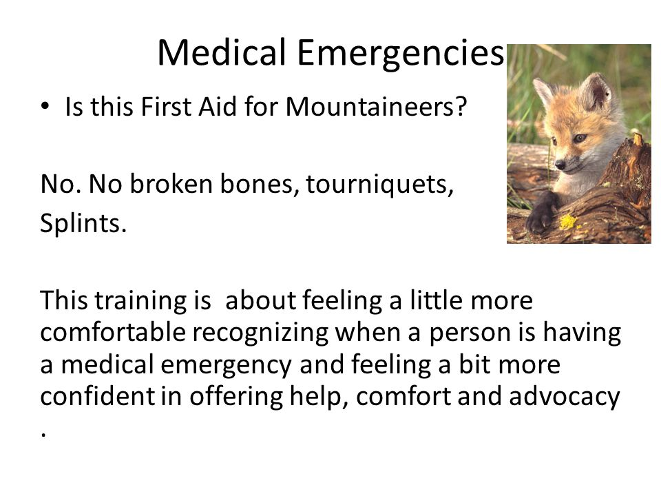 Medical Emergencies Is this First Aid for Mountaineers.