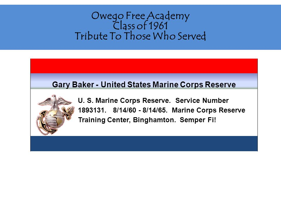 Paul Bartlow - United States Army United States Army/Army Reserves from 1966 to 1972.