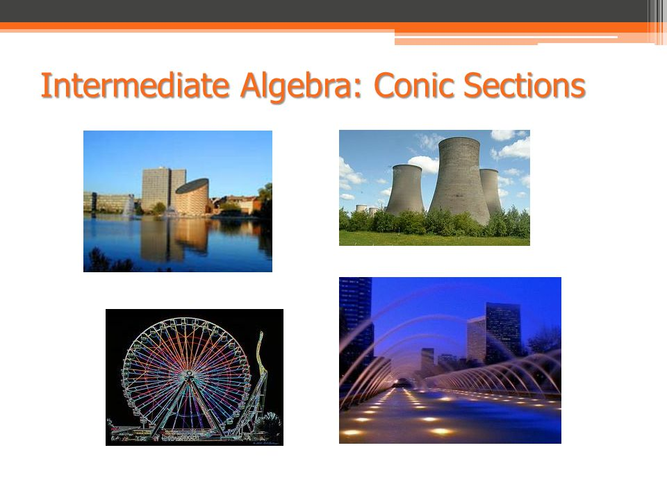 Intermediate Algebra: Conic Sections