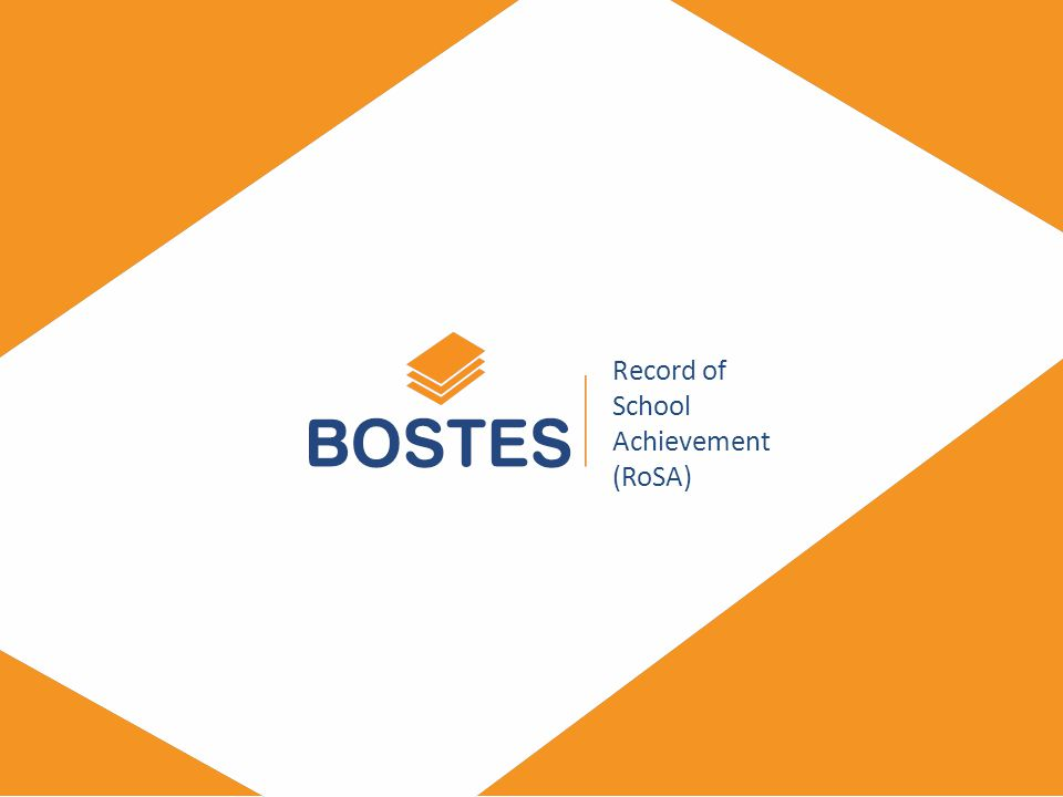 BOSTES.NSW.EDU.AU Record of School Achievement (RoSA)