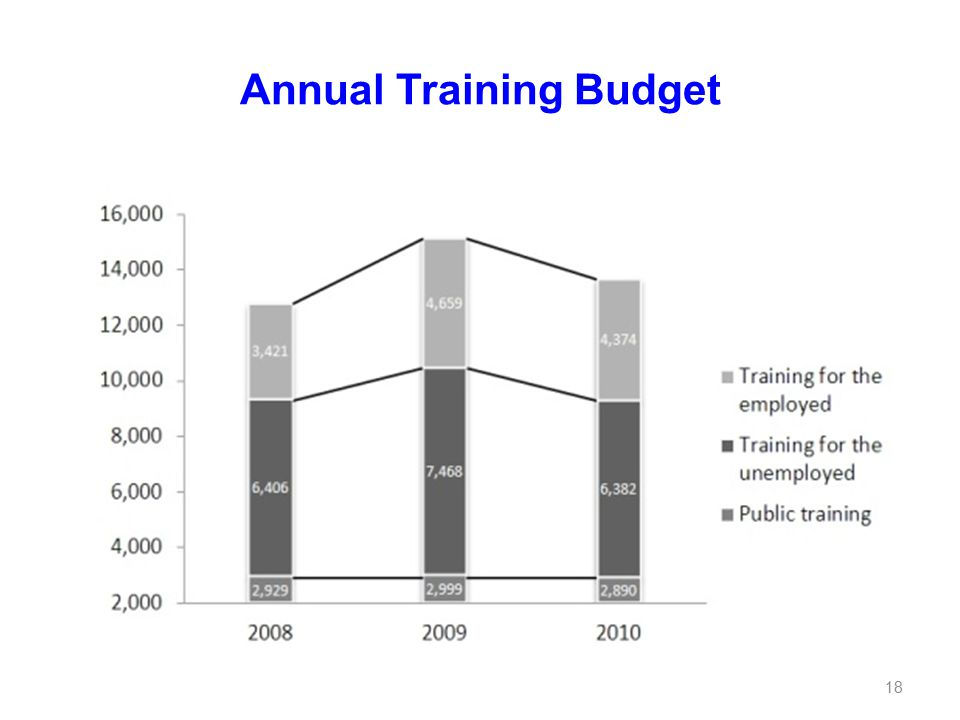 Annual Training Budget 18