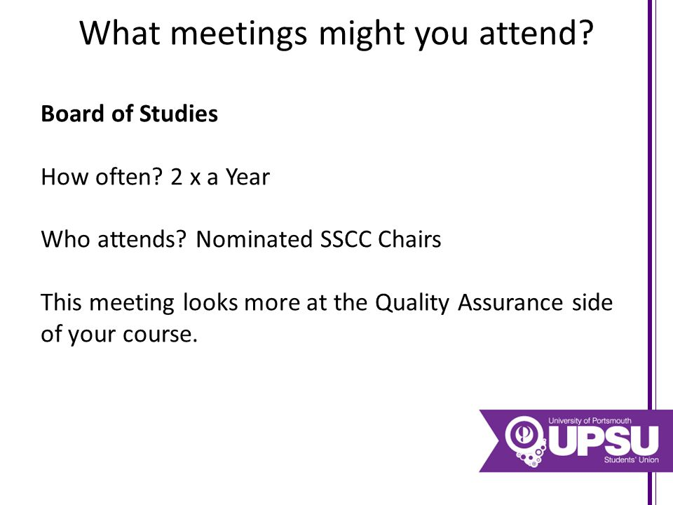 Most of you will probably have your Student Staff Consultative Committees coming up… Here's some examples of what NOT to do and some examples of what to do in your meetings.
