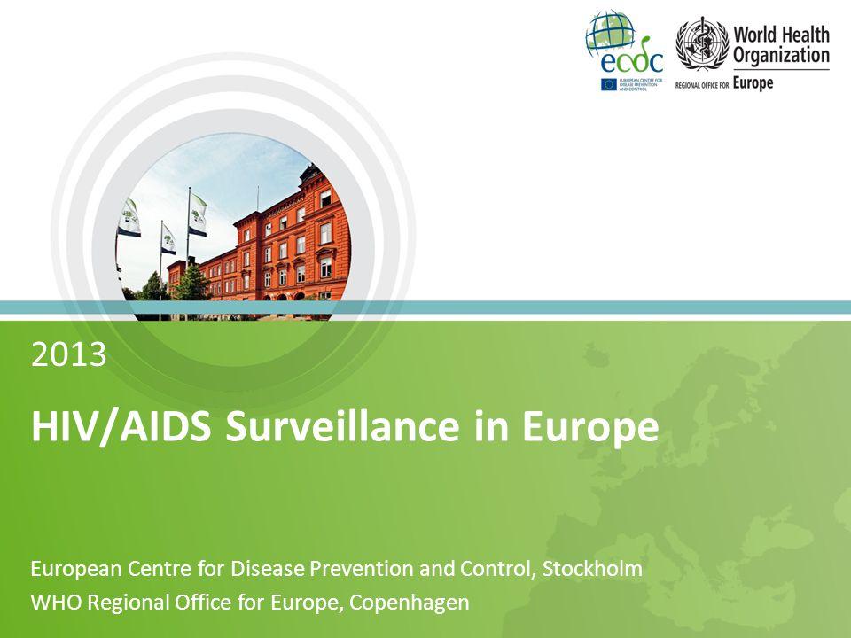 New HIV diagnoses, 2013 Rate per 100 000 population 31 Source: ECDC/WHO (2014).