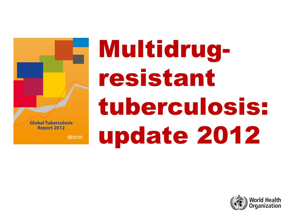 1 Multidrug-resistant TB in the world update October 2012  WHO 2012 © World Health Organization 2012 All rights reserved.