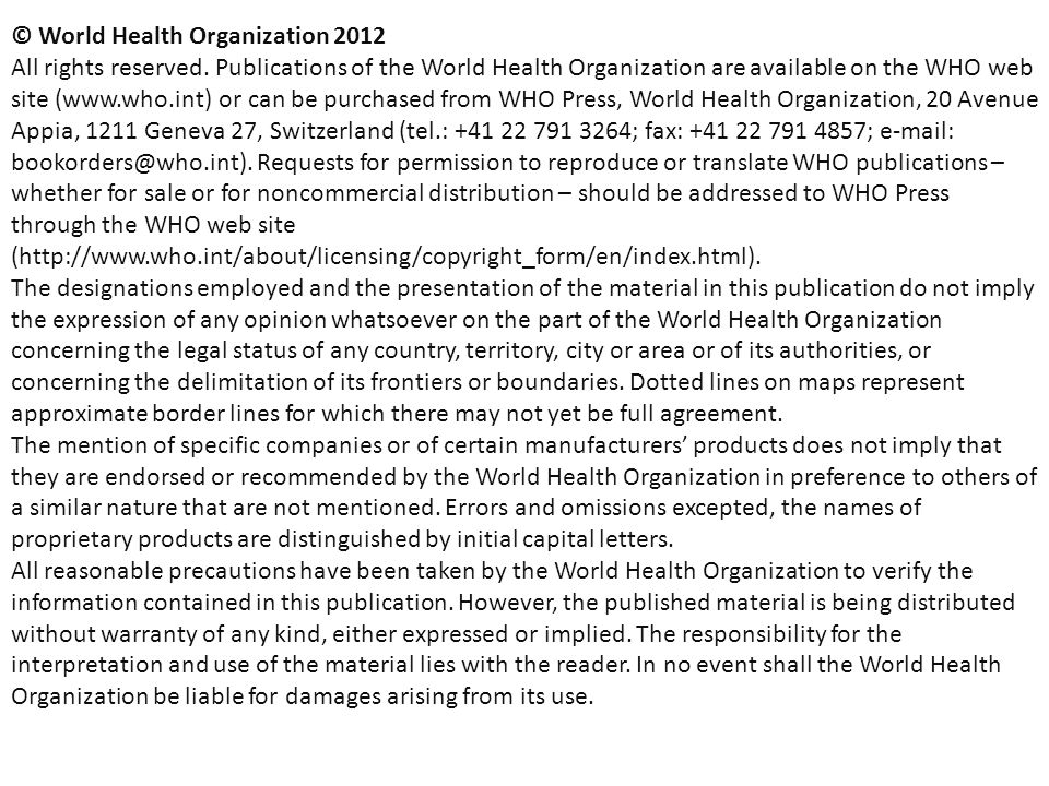 22 Multidrug-resistant TB in the world update October 2012  WHO 2012 Funding for MDR-TB (1)