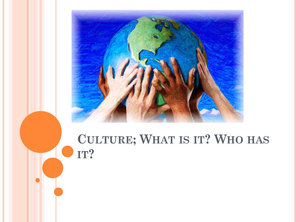 D O N OW What is culture? List five things that are a part of someone's culture.