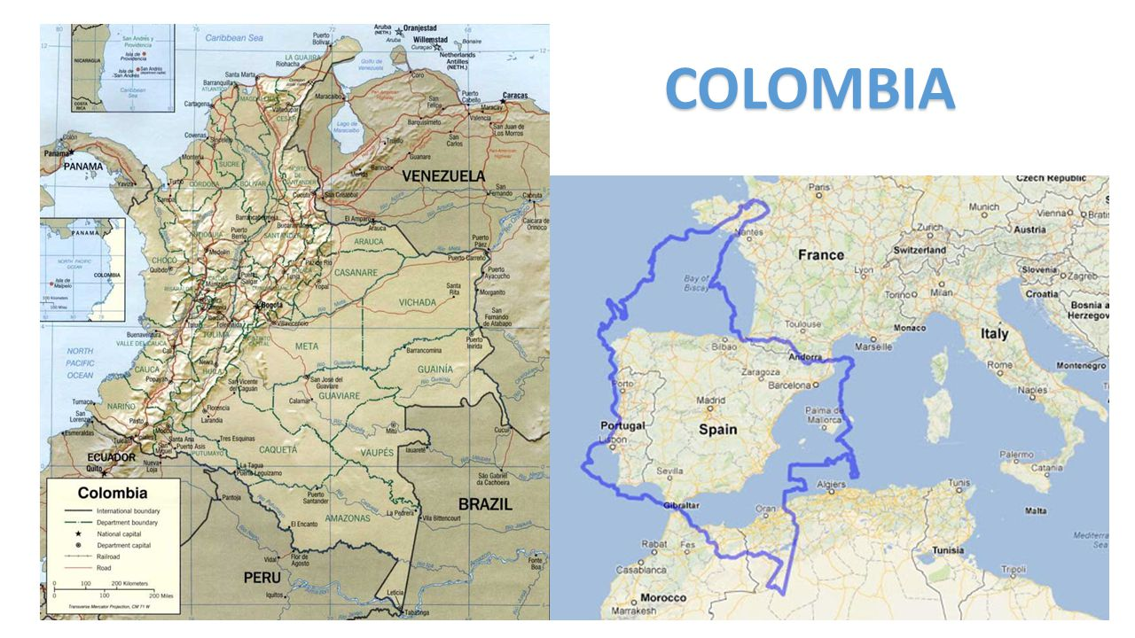 A Little bit about Colombia Population: 47.7 million Area: 1´141.748 km 2 (or 2 times the size of France) PIB per capita has grown from USD $ 5.855 in 2000 to USD $11.150 in 2014 Colombia is one of the world s mega-diverse countries: -14% of the world s biodiversity.