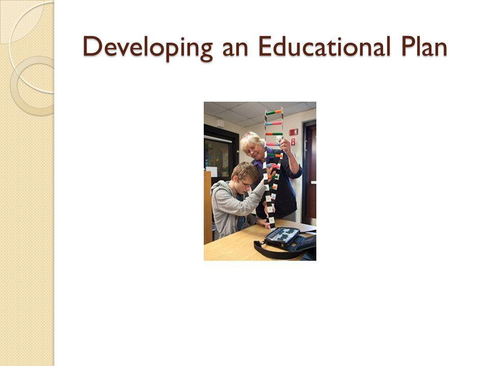 Developing an Educational Plan