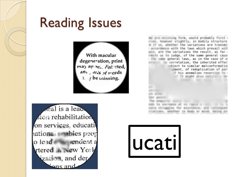 Reading Issues ucati
