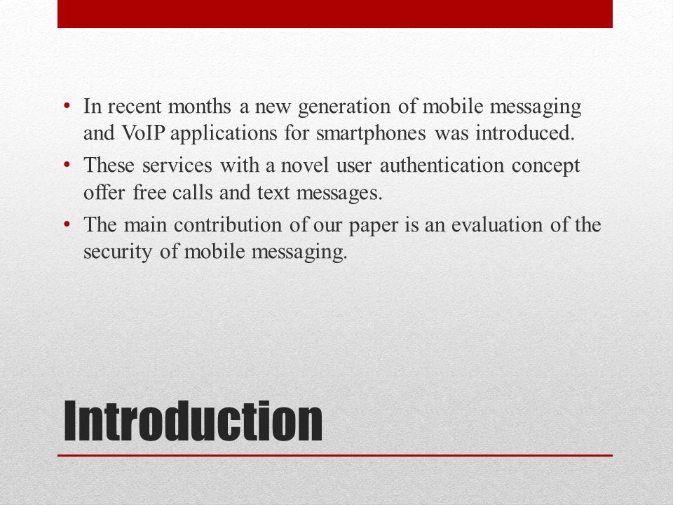 Unrequested SMS All examined applications had some kind of timeout that thwarted real mass spamming.