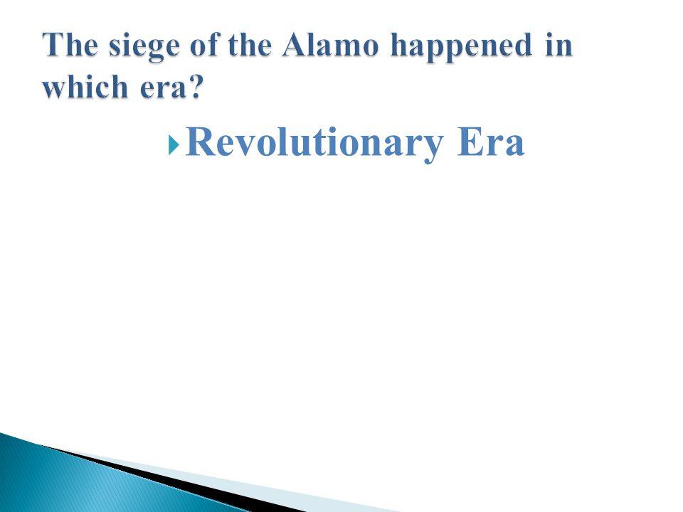 Revolutionary Era