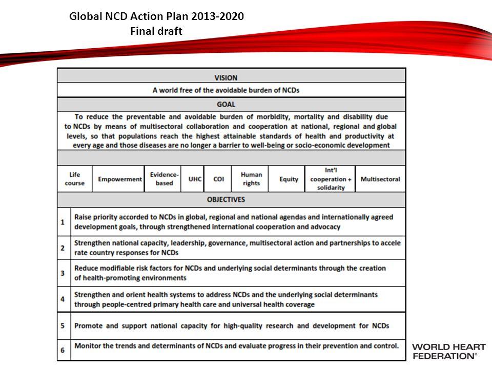 Global NCD Action Plan 2013-2020 Final draft