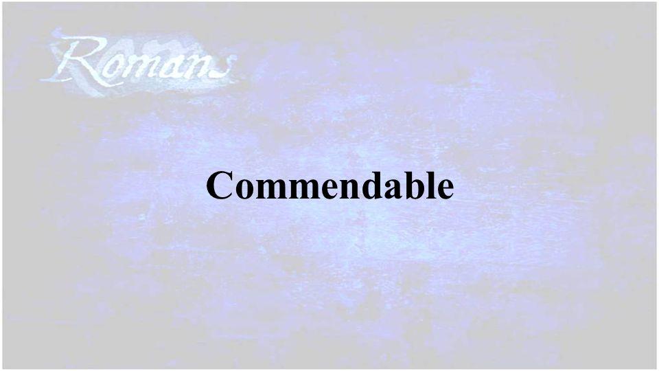 Commendable