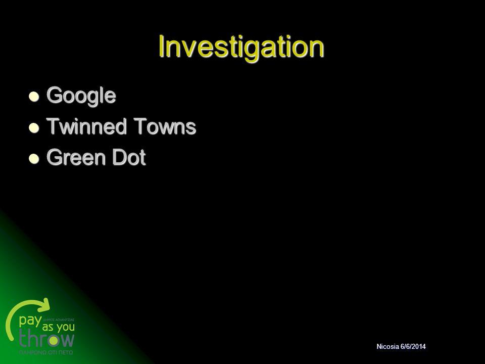 Investigation Google Google Twinned Towns Twinned Towns Green Dot Green Dot Nicosia 6/6/2014