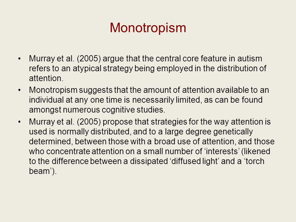 Monotropism Murray et al.