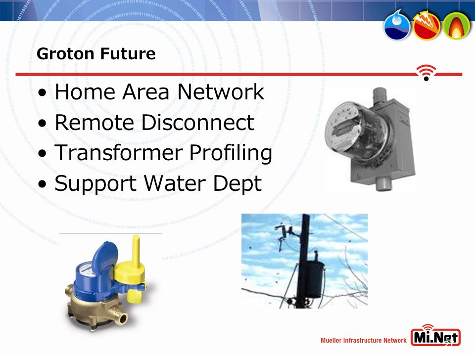 27 Groton Future Home Area Network Remote Disconnect Transformer Profiling Support Water Dept