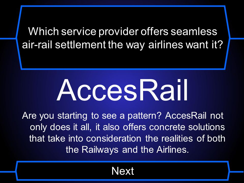 Which service provider offers seamless air-rail settlement the way airlines want it.
