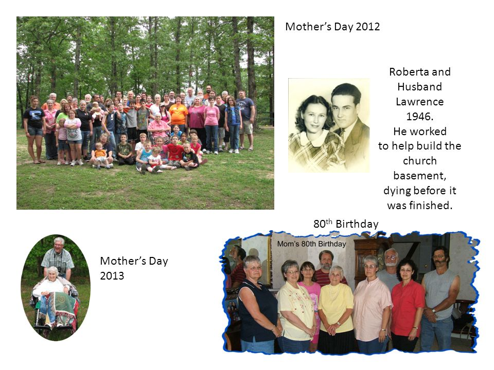 Mother's Day 2012 Roberta and Husband Lawrence 1946.