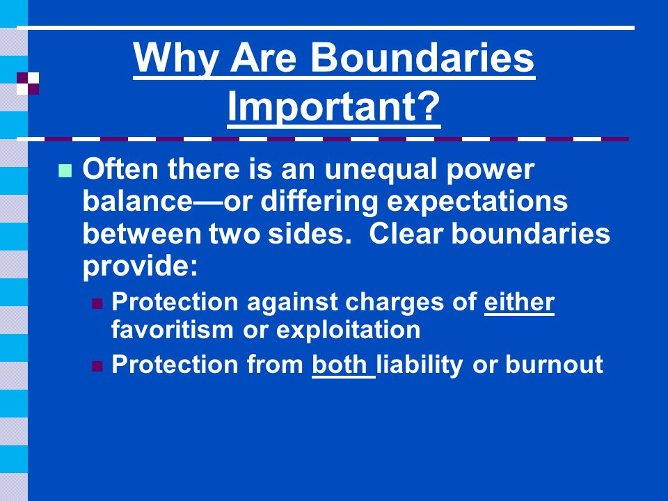 Why Are Boundaries Important.