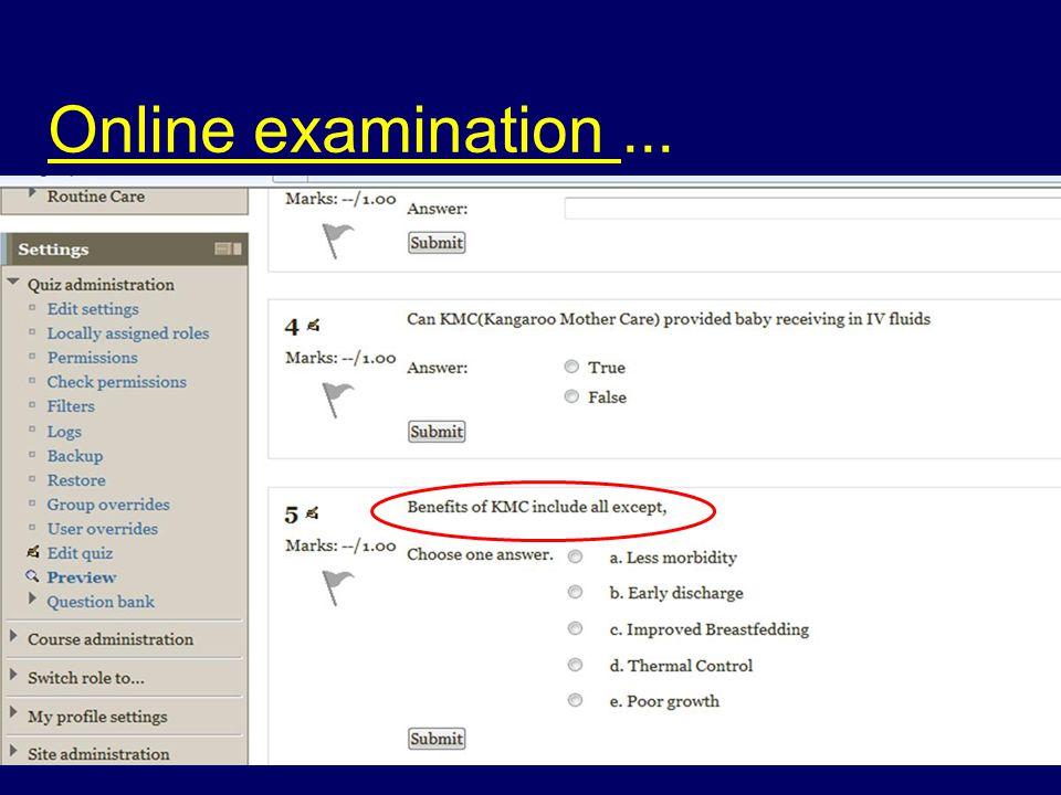 Online examination...