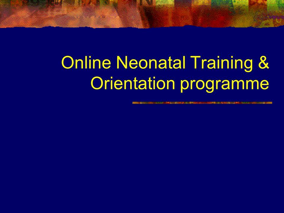 Online Neonatal Training & Orientation programme