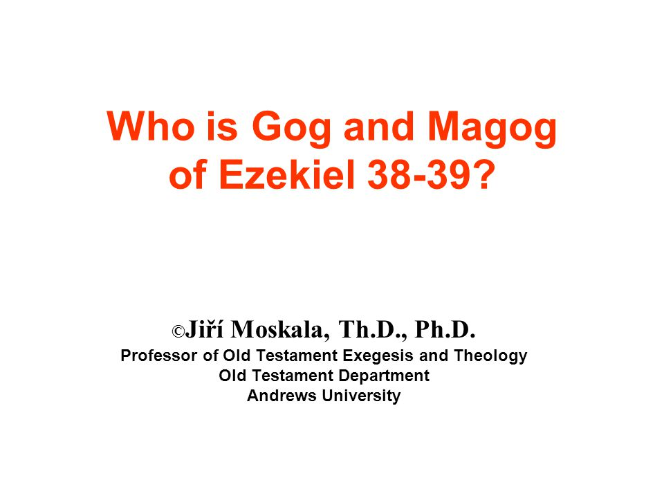 This study demonstrates that the cross, the central point in salvation history, enlarged the application of the prophecy concerning Gog and Magog.