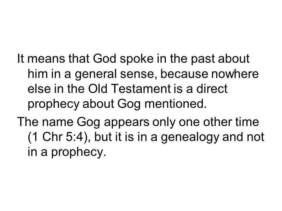 Ezek 38-39 and Rev 19 (b) The prophecy of Ezek 38–39 is further applied in Revelation 19 to the events closely related to the second coming of Christ.