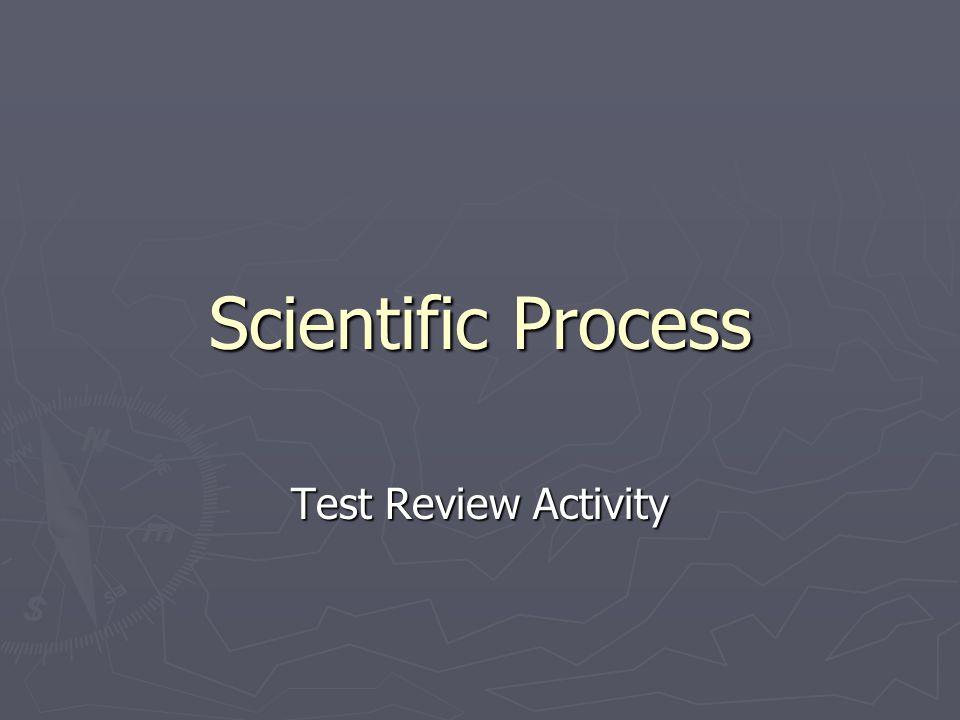 Scientific Process Test Review Activity