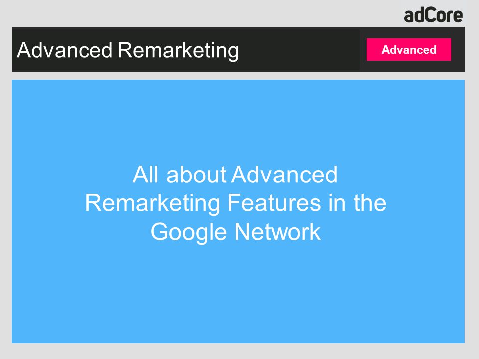 Agenda What is remarketing.