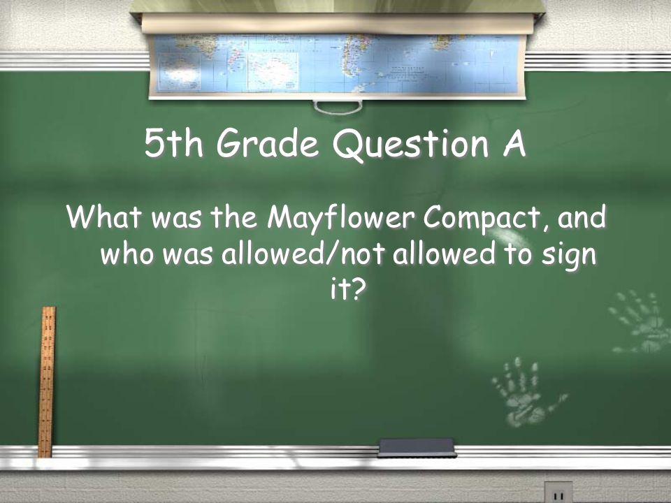 4th Grade Answer B Squanto