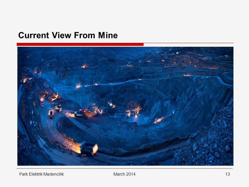 Current View From Mine Park Elektrik MadencilikMarch 201413