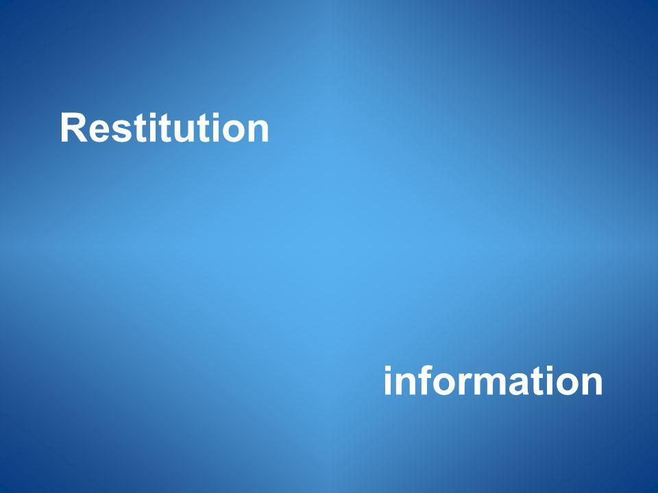 information Restitution