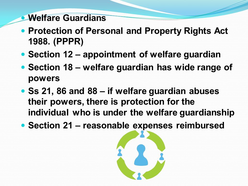 Welfare Guardians Protection of Personal and Property Rights Act 1988.
