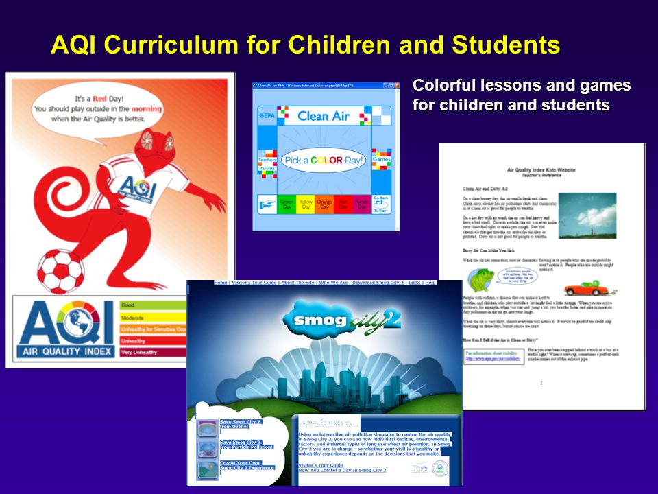 AQI Curriculum for Children and Students Colorful lessons and games for children and students
