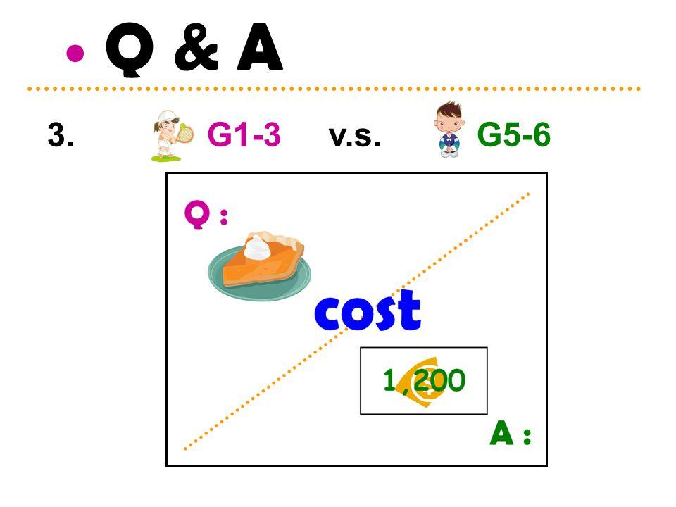 Q & A 3. G1-3 v.s. G5-6