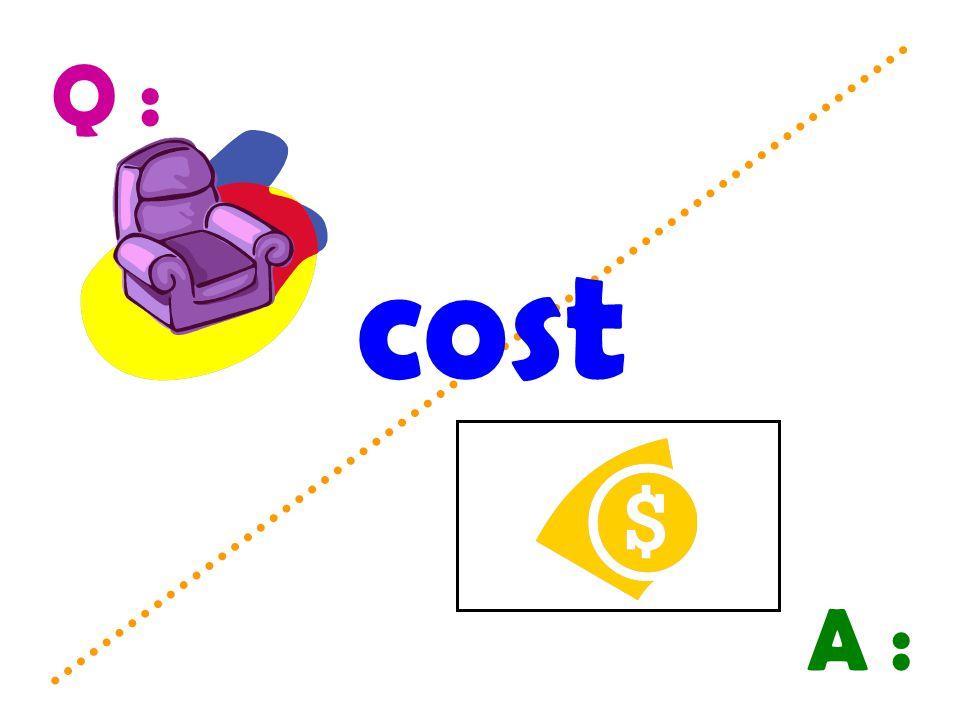 Q : A : cost