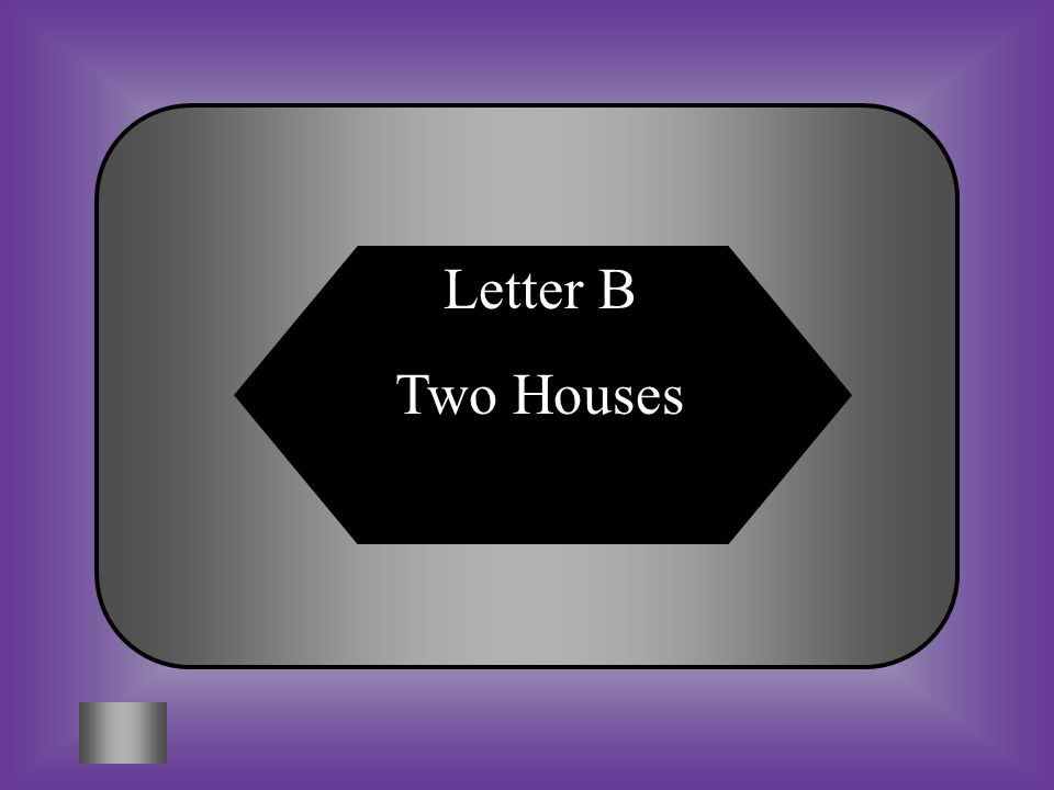 Letter B Two Houses