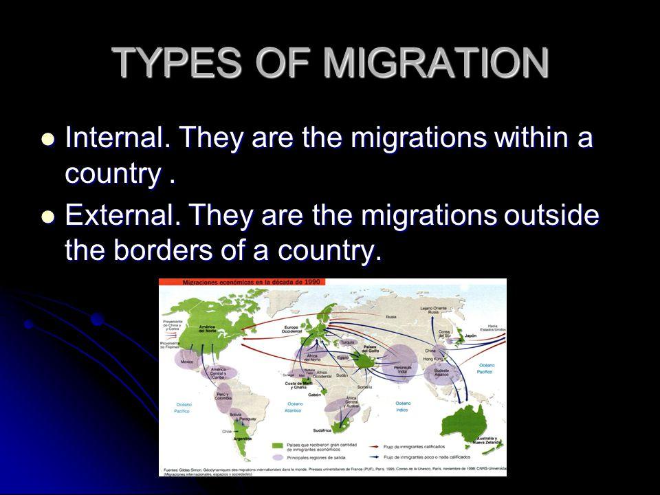 CAUSES FOR MIGRATION The causes for migration are: The causes for migration are: Political, economic, cultural or environmental reasons.