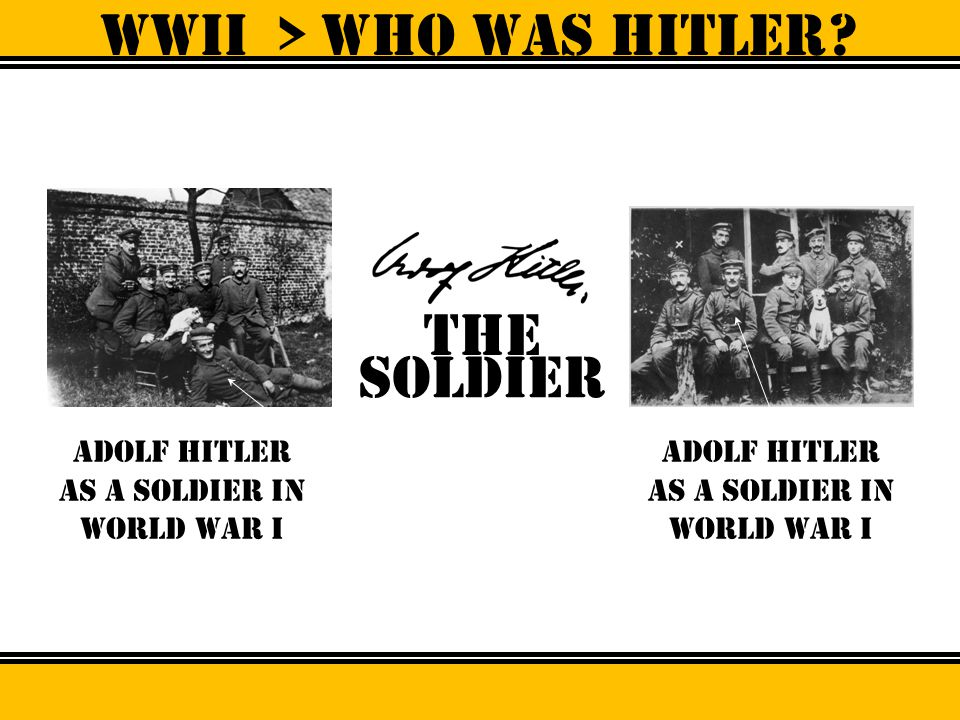 WWII > Who was hitler? the Fuhrer, Chancellor of germany