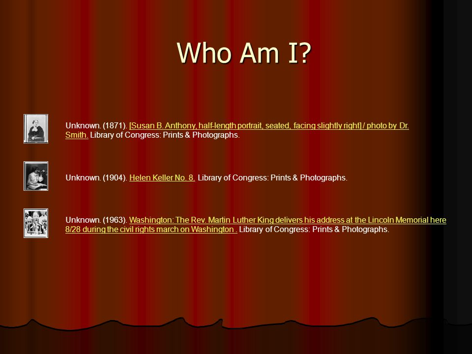 Who Am I. Unknown. (1871). [Susan B.